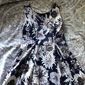 Bold floral a-line dress